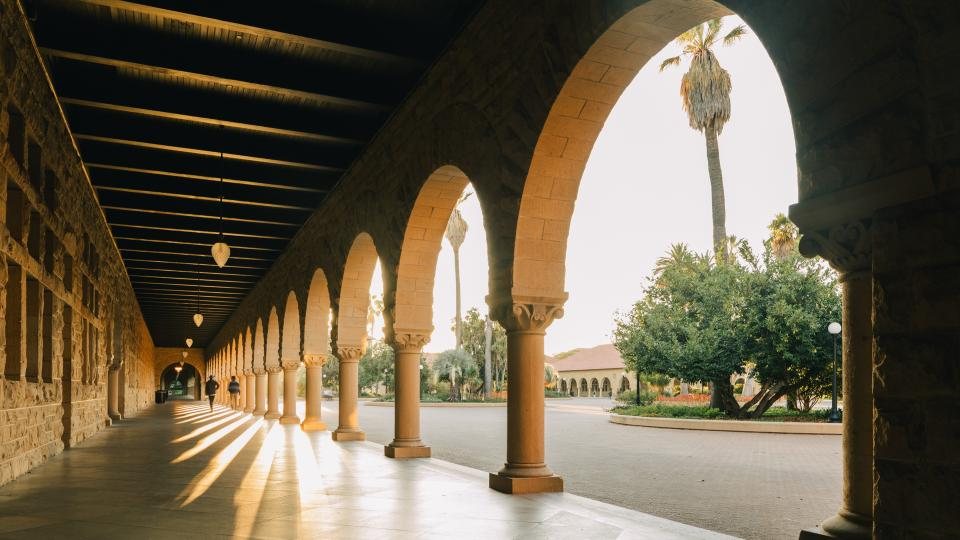 Memorial Quad on Stanford Campus